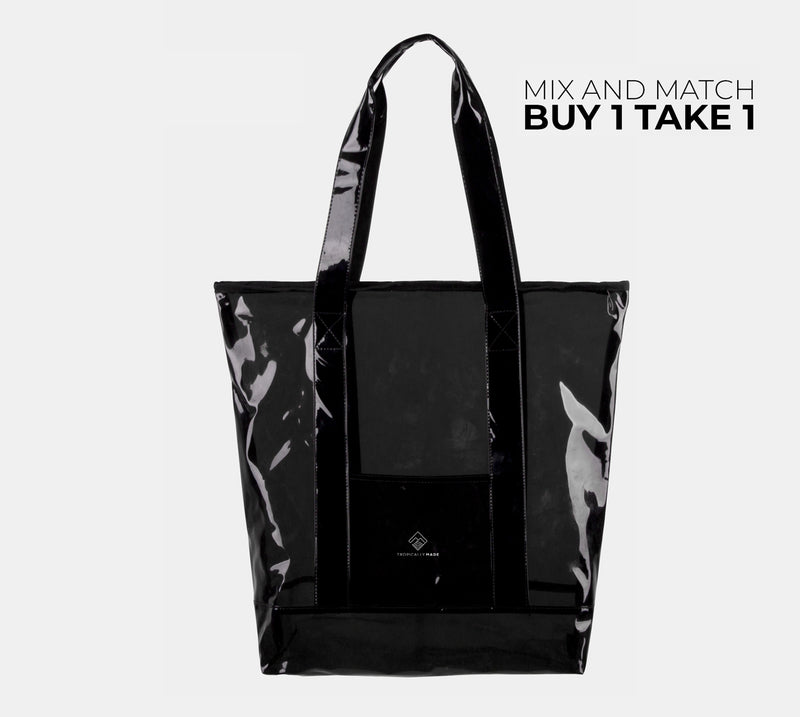 Departure Point Zipped Tote Bag (Black)