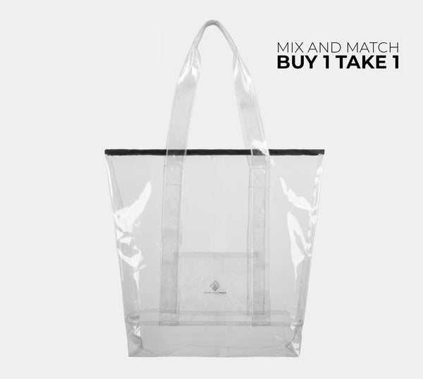 Departure Point Zipped Tote Bag (Clear)