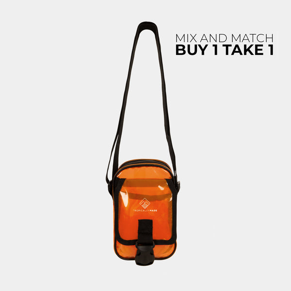 Departure Point Crossbody Bag (Neon Orange)