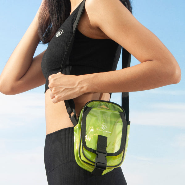 Departure Point Crossbody Bag (Neon Green)