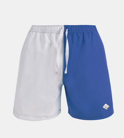 Drifter Swim Shorts (White, Royal Blue)