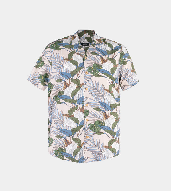 Tropics Cuban Shirt (Earthy, Light Brown)