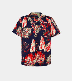 Tropics Cuban Shirt (Havana, Navy Blue)