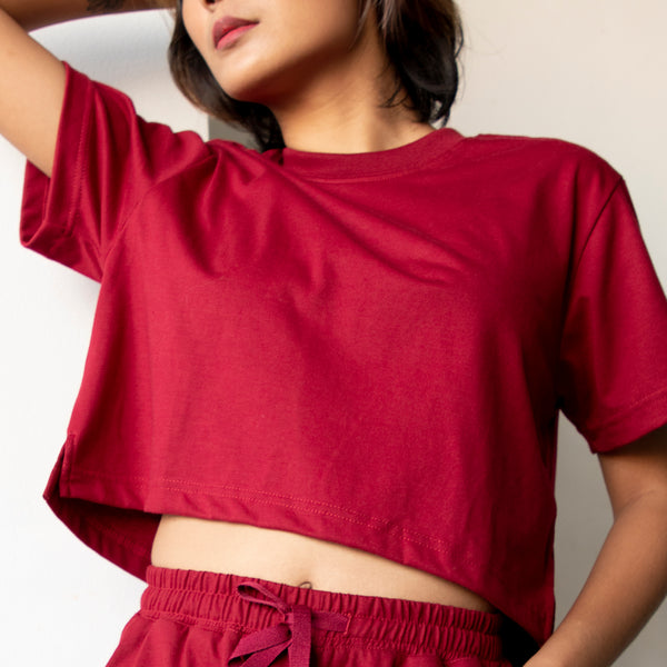 Women's Laid Back Tropics Shirt (Maroon)
