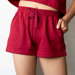 Women's Laid Back Tropics Shorts (Maroon)