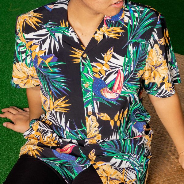 Tropics Cuban Shirt  (Firth, Black)
