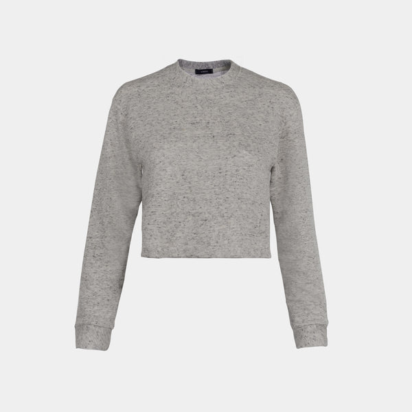 Women's Weekend Vacay Cropped Sweatshirt (Cream)