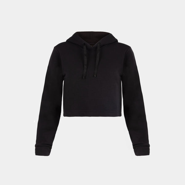 Women's Summercity Cropped Hoodie (Black)