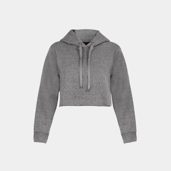 Women's Summercity Cropped Hoodie (Light Gray)