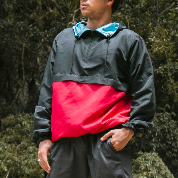 Switch Two-Tone Windbreaker (Black, Red)