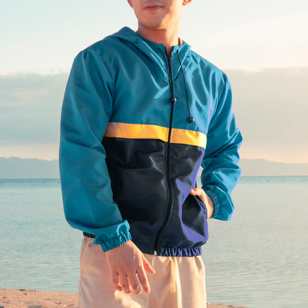 Rainfall Windbreaker (Teal, Yellow, Navy Blue)
