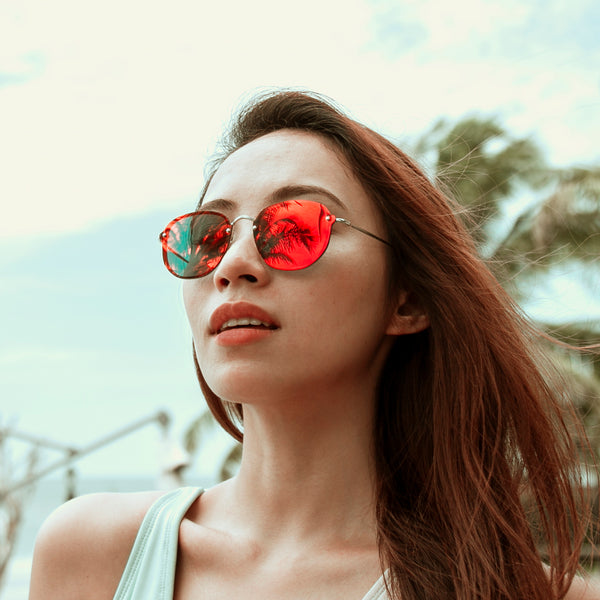 Tides Sunglasses (Crimson)