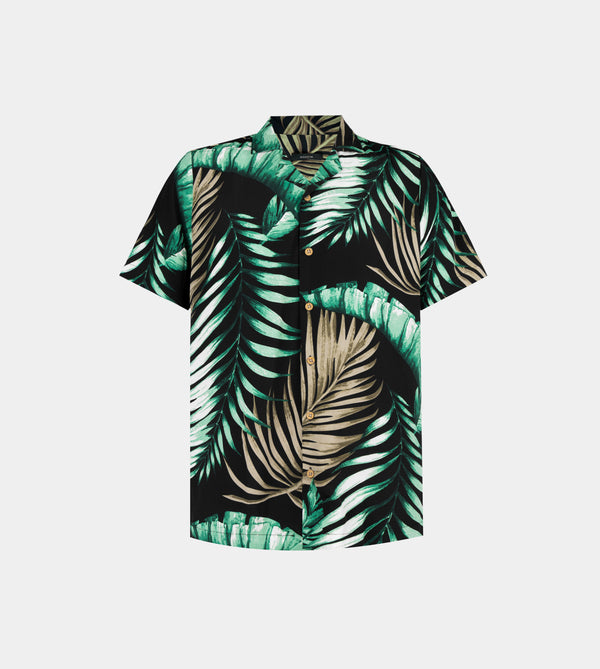 Tropics Cuban Shirt (Maldives, Jade Black)