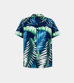 Tropics Cuban Shirt (Maldives, Navy Blue)