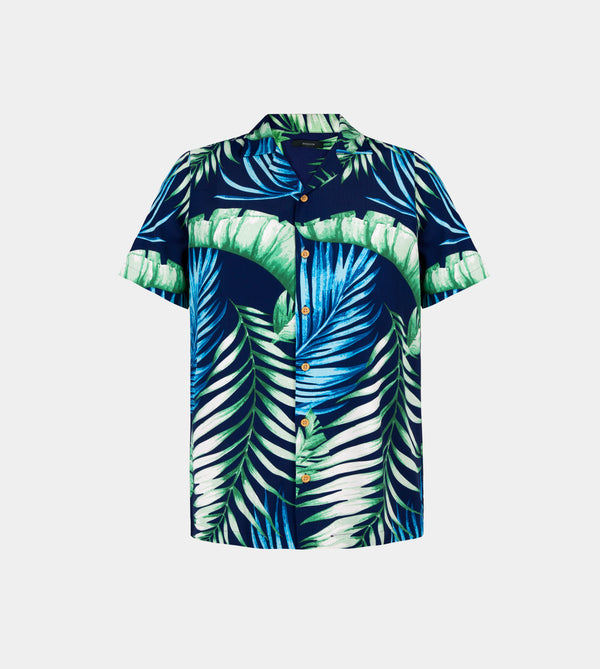 Tropics Cuban (Maldives, Navy Blue)