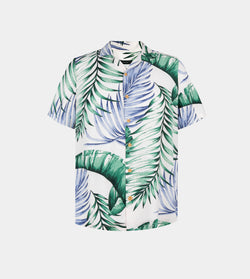 Tropics Cuban Shirt (Maldives, White)