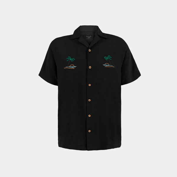 Oasis Cuban Shirt (Black)