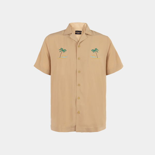 Oasis Cuban Shirt (Light Tan)