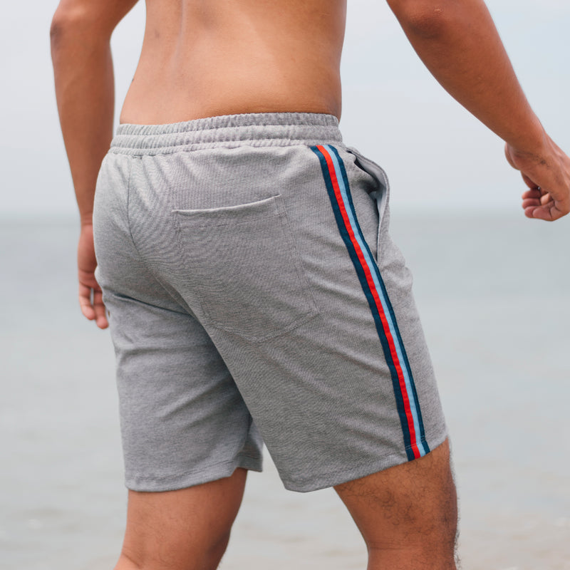 Pace Side Stripe Shorts (Light Gray)