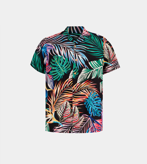 Tropics Cuban Shirt (Siargao, Black)