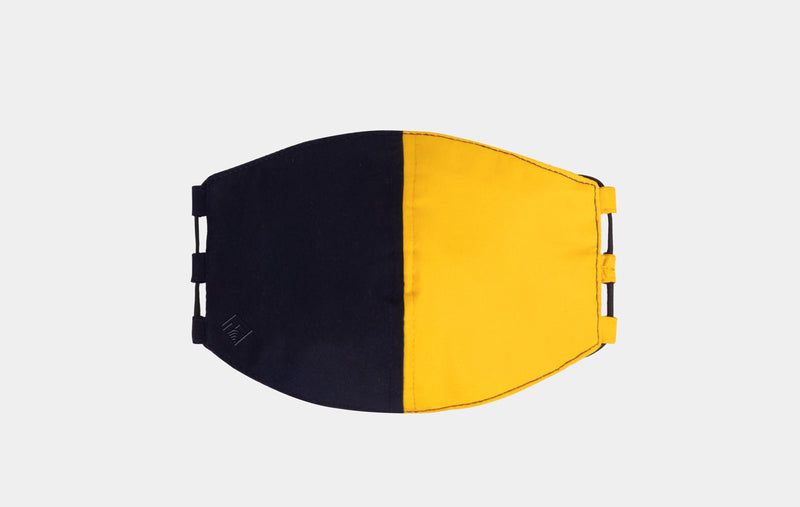 Sierra Colorblock Face Mask ( Navy Blue, Yellow)
