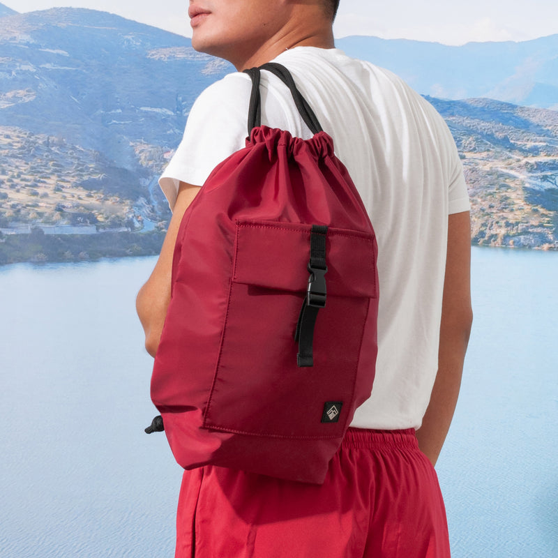 Altum Drawstring Bag (Maroon)