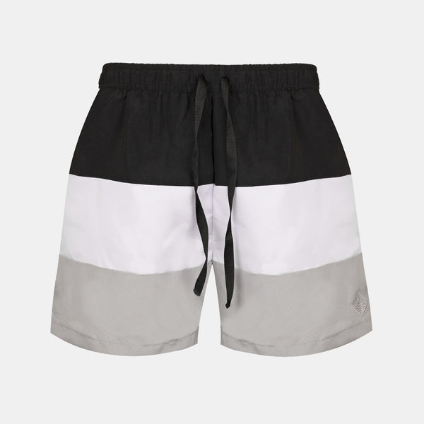 Sailor Swim Shorts (Black, White, Light Gray)