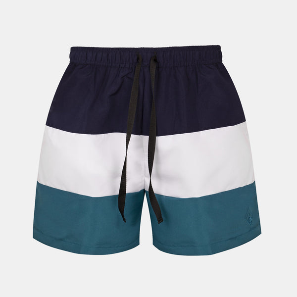 Sailor Swim Shorts (Navy Blue, White, Teal)