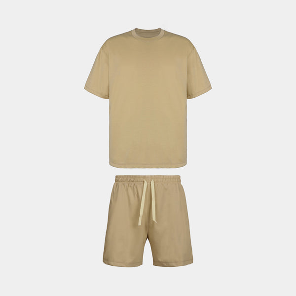 Men's Sundaze Co-ords (Light Khaki)