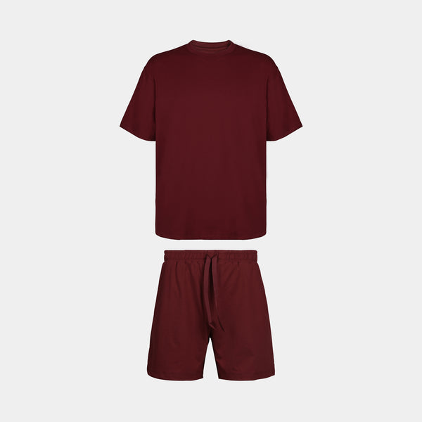 Men's Sundaze Co-ords (Maroon)