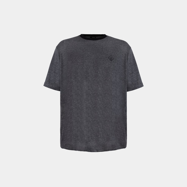 Oversized Tropically Made Logo T-Shirt (Acid Gray)