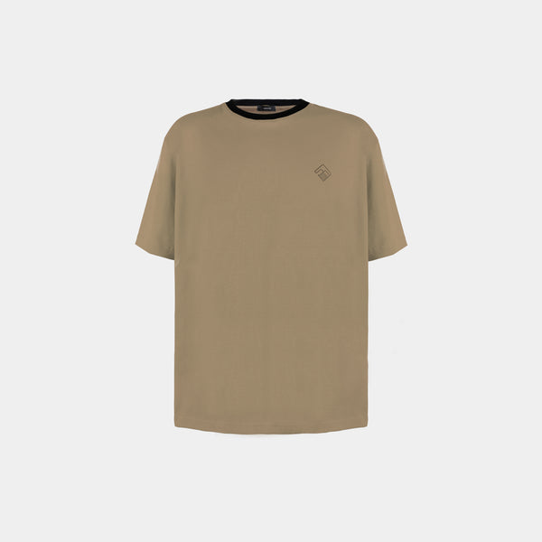 Oversized Tropically Made Logo T-Shirt (Light Khaki)