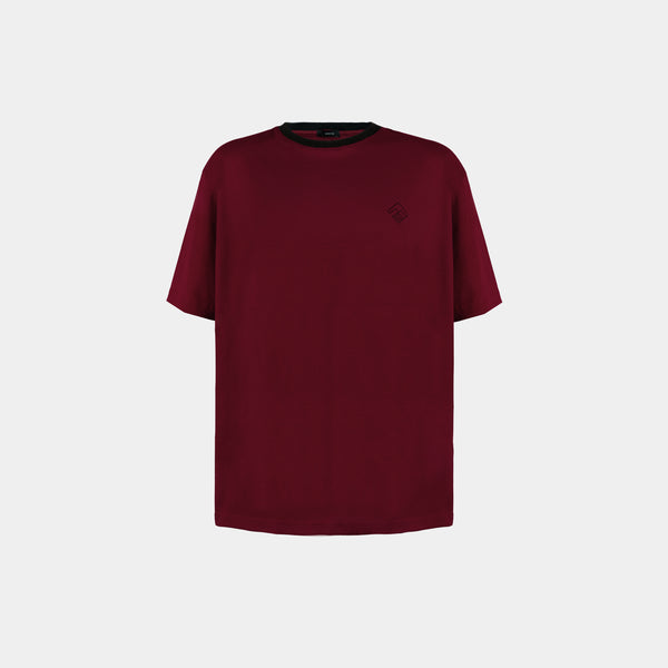 Oversized Tropically Made Logo T-Shirt (Maroon)