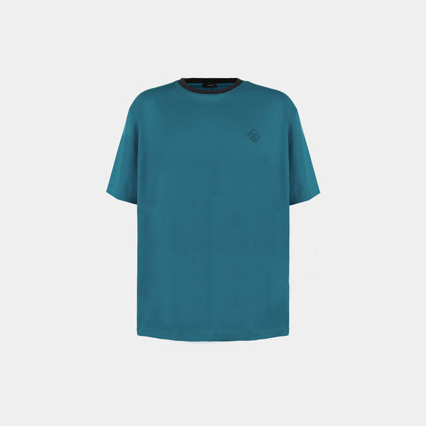 Oversized Tropically Made Logo T-Shirt (Jade Green)
