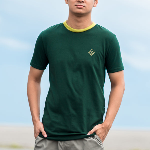 Tropically Made Logo T-Shirt (Forest, Lime)