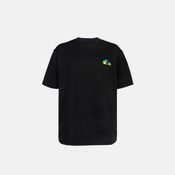 Oversized Summer Graphic Tee (Black)