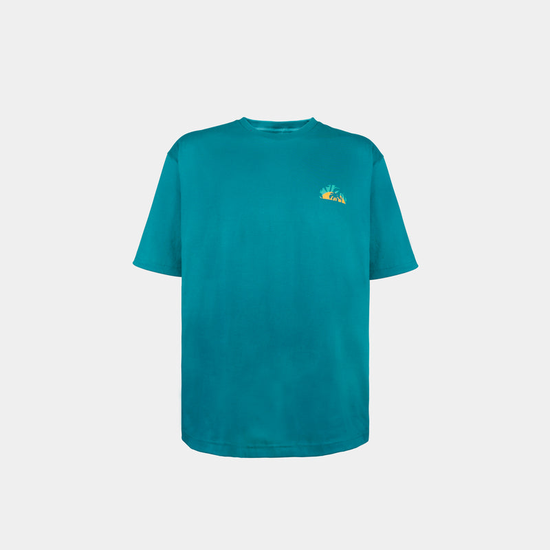 Oversized Summer Graphic Tee (Teal)