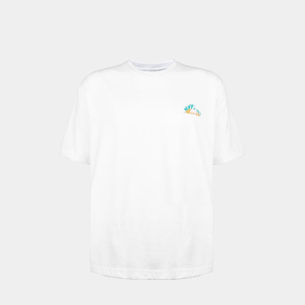 Oversized Summer Graphic Tee (White)