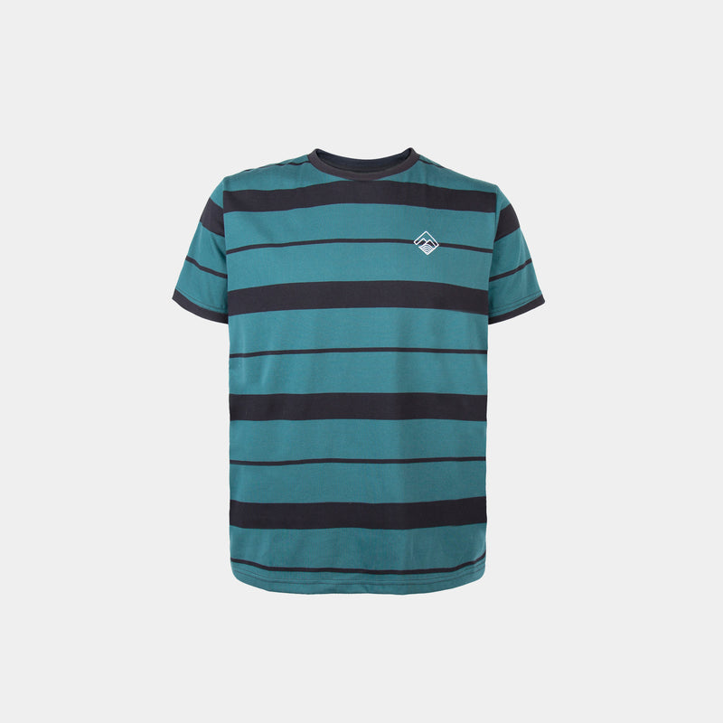 Two-Tone Striped Shirt (Green)