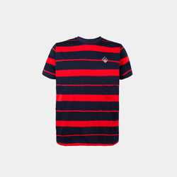 Two-Tone Striped Shirt (Red)