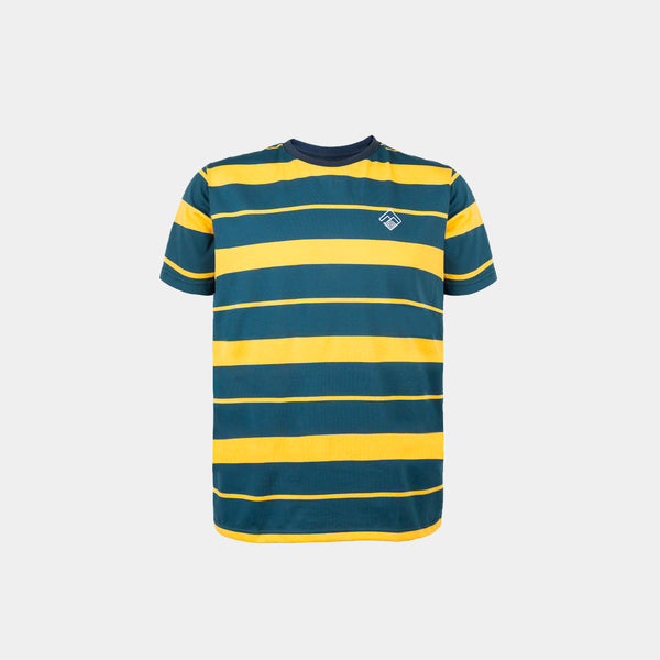 Two-Tone Striped Shirt (Mustard)