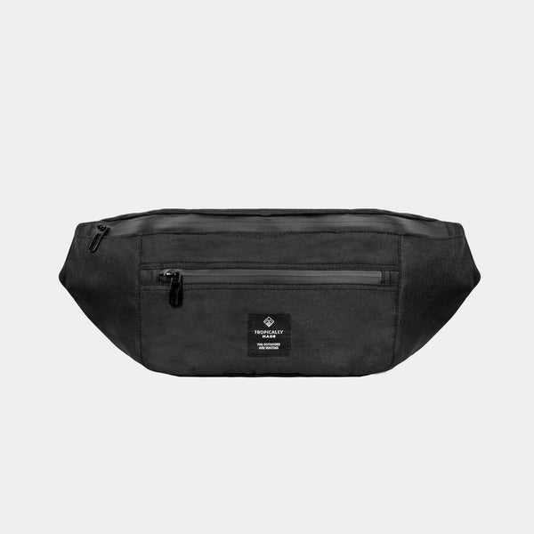Venture Double Zipped Fanny Pack (Black)