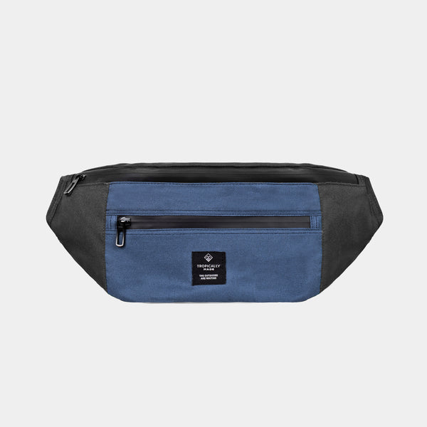 Venture Double Zipped Fanny Pack (Navy Blue, Black)