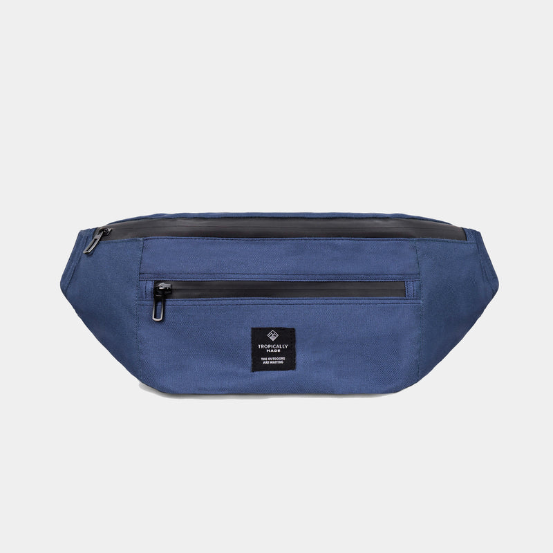 Venture Double Zipped Fanny Pack (Navy Blue)