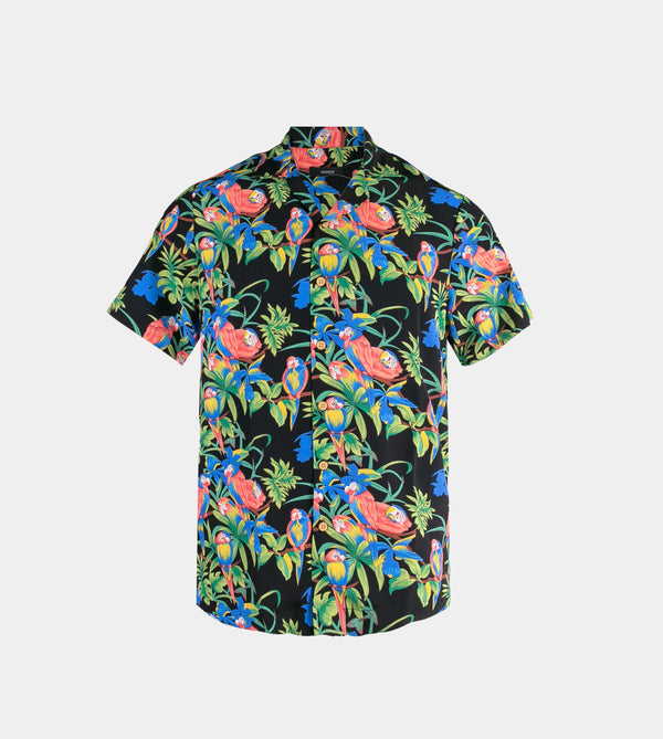 Tropics Cuban Shirt (Thicket, Black)