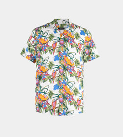 Tropics Cuban Shirt (Thicket, White)
