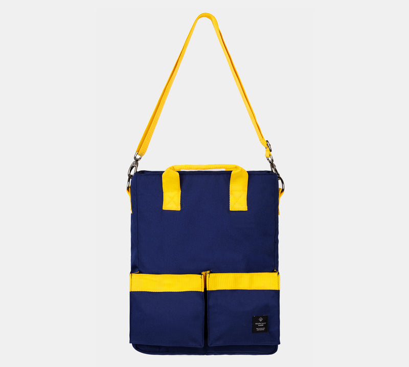 Offshore Tote Bag (Navy Blue, Yellow)