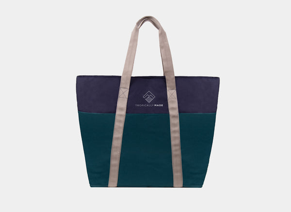 Weekend Tricolor Tote Bag (Navy Blue)