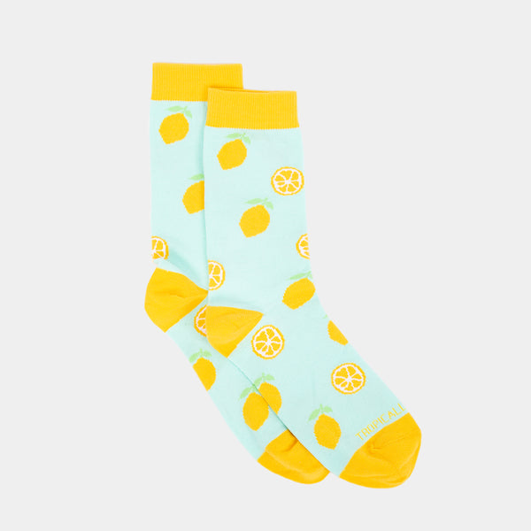 Patterned Socks (Lemon, Yellow)