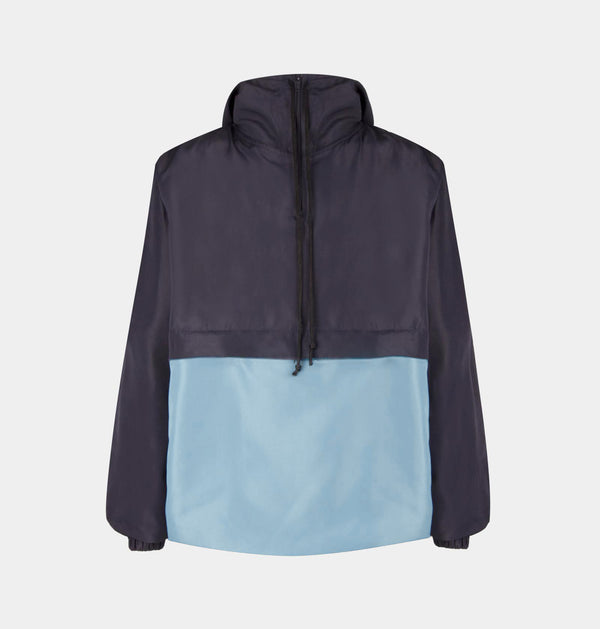 Switch Two-Tone Windbreaker (Navy Blue, Light Blue)